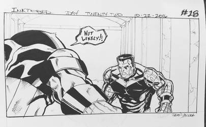 Inktober 2016 Day 22 X-Men story panel 18 by BrianVander