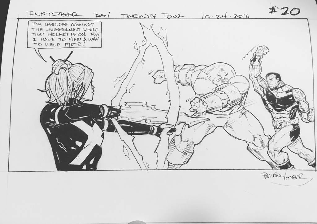 Inktober 2016 Day 24 X-Men story panel 20 by BrianVander