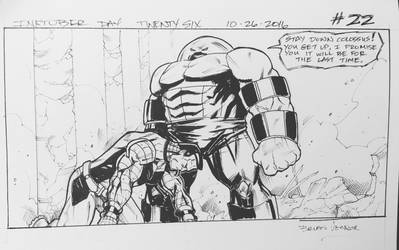 Inktober 2016 Day 26 X-Men story panel 22 by BrianVander