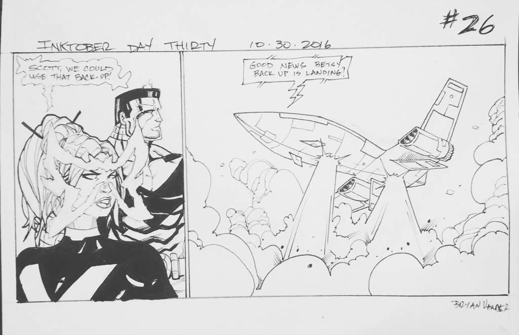 Inktober 2016 Day 30 X-Men story panel 26 by BrianVander