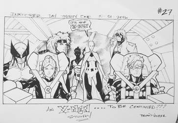Inktober 2016 Day 31 X-Men story panel 27 by BrianVander