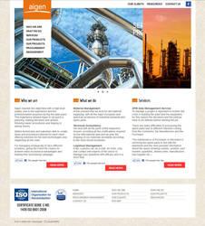 Aigen - website layout by fluerasa