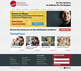 BAM - website layout design by fluerasa