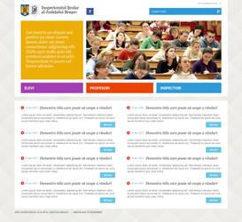 ISJ Brasov - Website layout proposal by fluerasa