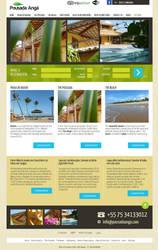 Pousada Anga - website layout by fluerasa