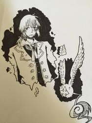 Inktober #1 Allen Walker and Timcanpy by Wondering--Artist