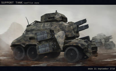 Support tank Gaza conflict by LMorse