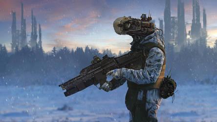 Cyberdroid Winter Patrol by LMorse