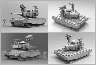 TKN745 Dronetank version sculpt by LMorse