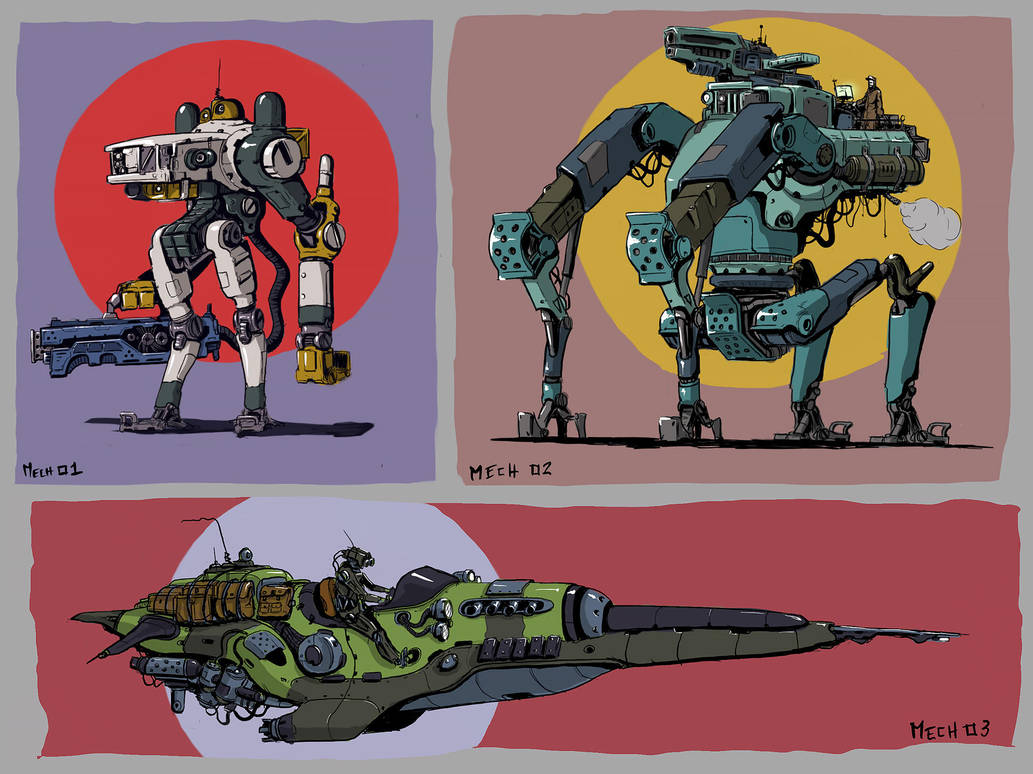 Mech sketch serie 01 by LMorse