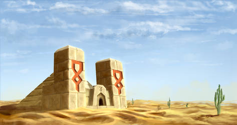 Minecraft Desert Temple by Algoinde