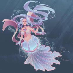Jellyfish Mermaid by BaroqueBeat