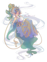 Dragon Lady Character Design by BaroqueBeat