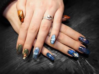 Gothic Fairytale Nail Art by Undomiele