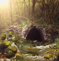 light in forest by Creamydigital