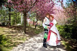 A cherry blossom wonderland by PANattheDisco