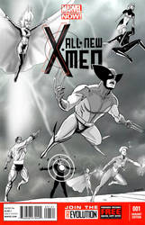 XMEN FALL OF THE MUTANTS COVER by Melquizedec