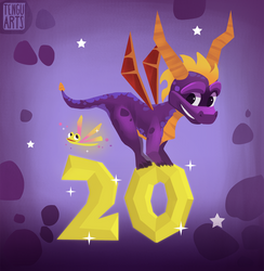 Spyro 20th Anniversary by Tengu-Arts