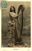 Vintage Harp by GRANNYSATTICSTOCK