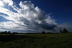 Sky under Kizhi by GhostRazor