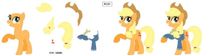 Applejacks Best Gift Ever Base 01 by PonyPainterMaddie