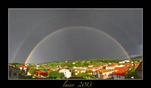 Double rainbow by laino