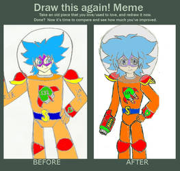 Super Space Kid Before and After by RoxasXIIkeys