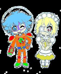 Chibi Alex and Chibi Alice by RoxasXIIkeys