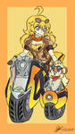 Yang and  growlight by Bumblebee358