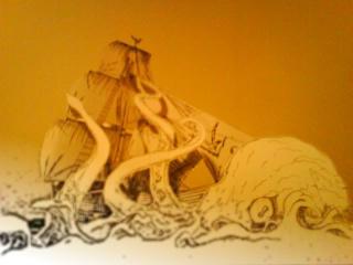 Kraken in bedroom by lilboy
