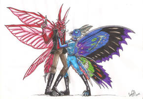Bataryah and Graluna by SkekLa