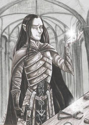 Feanor- commission for Naturgeist by SkekLa