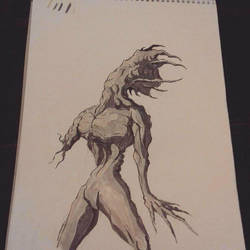 Monster 01 Inktober by neometalero