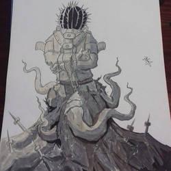 Inktober Monster Day6 by neometalero