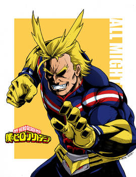 All Might Color by the-pooper