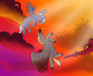 Pegasi Dance (With Artist name) by ZipTheArtsyFox