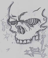 Skull Head Graffiti by nobody-cares