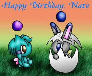 Chao Birthday card by SpookyElk