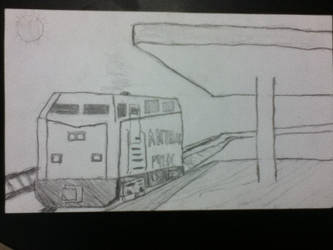 GE P42 DC Amtrak drawing by Watson-inc