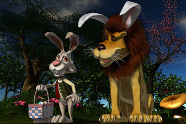 THE NEW EASTER...UH....BUNNY by lordcoyote