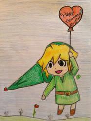 Link valentines day by Shizaya-luv-artist