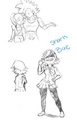 Stream sketches 1 by chrisolian