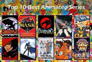 Top 10 Best Animated Series Template by air30002 by ghostlymarionette