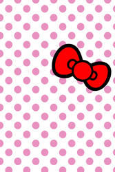 hellokitty bow iPhone wallpaper by will-yen