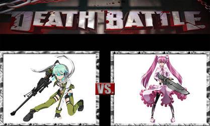 Death Battle: Sinon vs Mine by Kusuri-Shibata