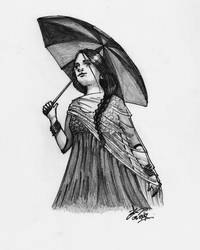 Girl with the Umbrella by mirazrahman