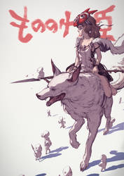 Princess Mononoke by MikeJordana