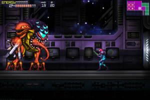 Metroid Fusion Final Boss GBA by Billysan291