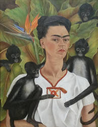 Frida Kahlo Self Portrait with Monkeys by lavonia