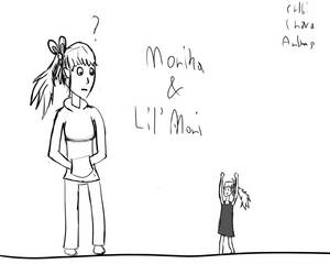 Monika and Lil' Moni by truemaster999